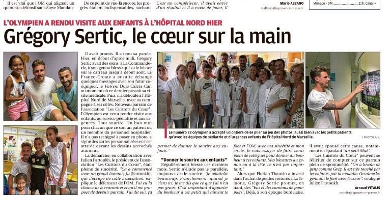 Journal La Provence 20 Juillet 2018