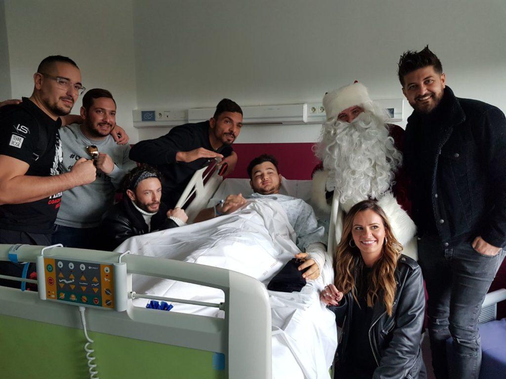 Ils étaient tous présents pour notre Noel  à l'Hopital !