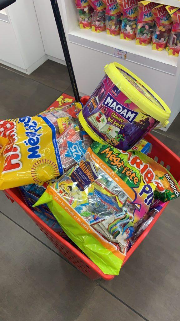 Des bonbons livrés pour Halloween !